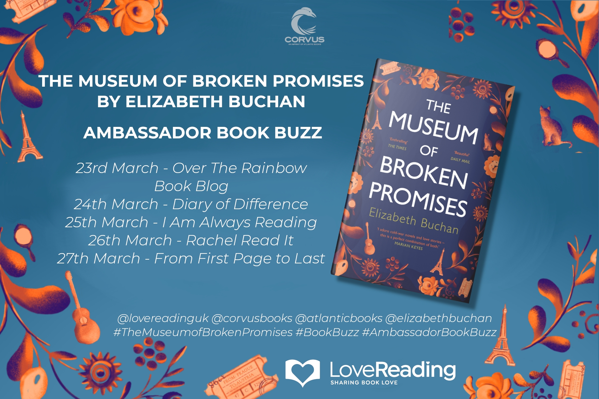 Ambassador Book Buzz: The Museum of Broken Promises by Elizabeth Buchan