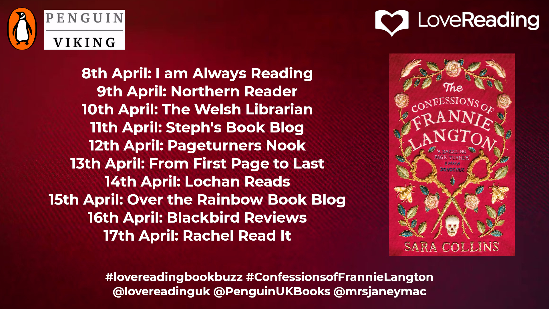 The Confession of Frannie Langton Ambassador Book Buzz Poster