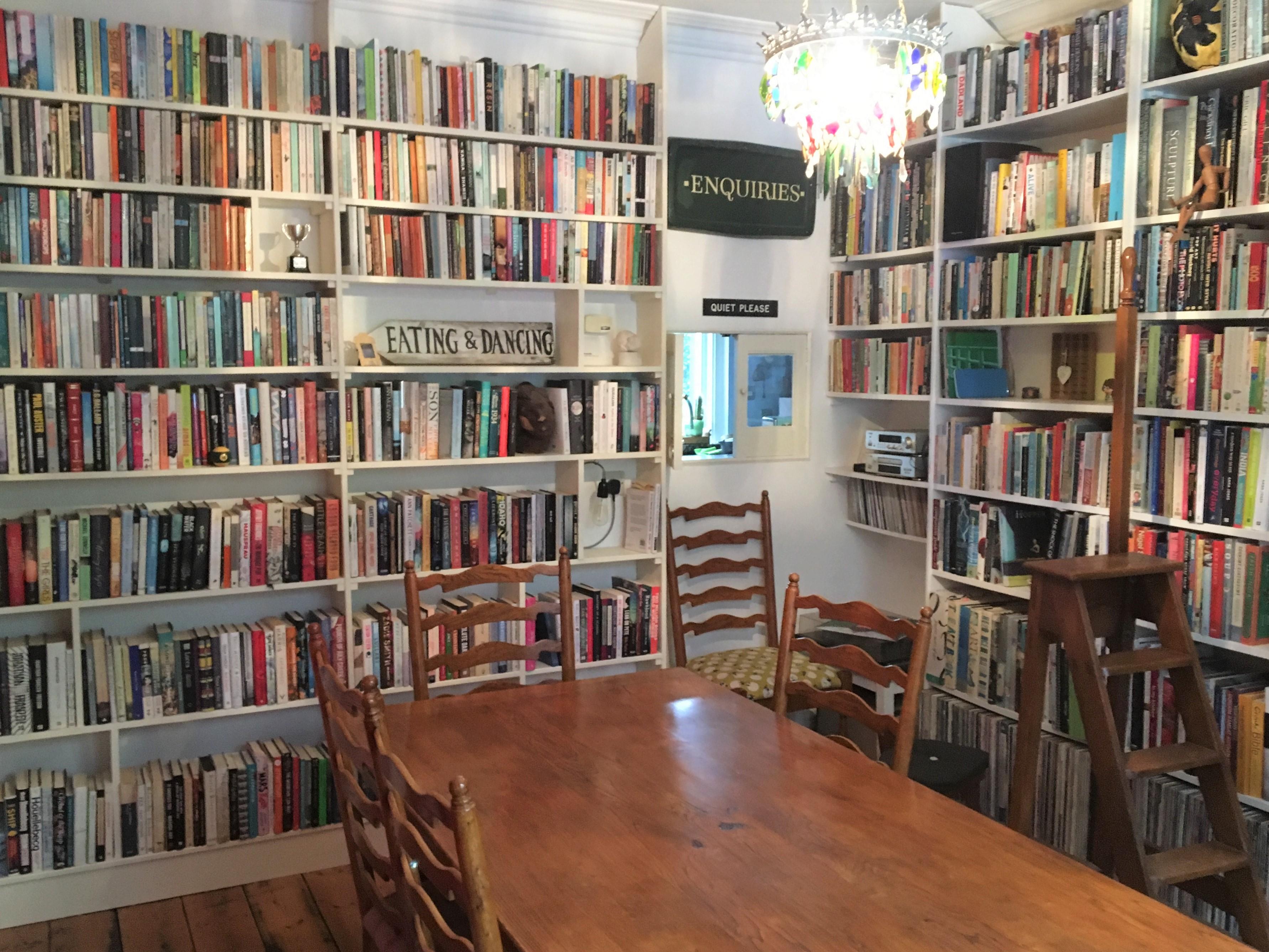 Claire Fuller's BookShelves