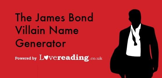 The James Bond Villain Name Generator