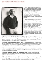 Elmore leonard rules for writing